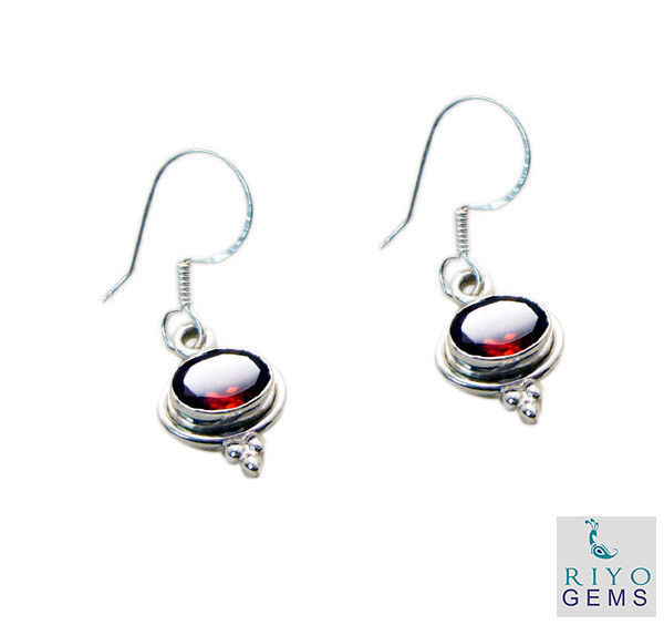 splendid Garnet 925 Solid Sterling Silver Red Earring Natural gemstone US