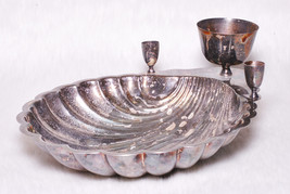 Vintage Collectible FB Rogers Silverplated Sea Shell Shaped Bowl Candle ... - $45.00