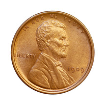 1909 P Lincoln Wheat Cent - Gem BU / MS / UNC - $39.00
