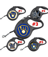 Milwaukee Brewers Retractable Dog Leash tangle free upto 110 lb pet leas... - $22.30+
