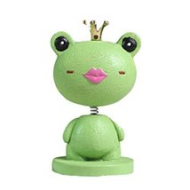 PANDA SUPERSTORE Adorable Princess Frog Hand Painted Car Ornaments Resin Auto Tr