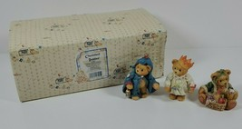 New Cherished Teddies Gloria Garland & Gabriel 614807 Christmas Ghost Fi... - $24.74