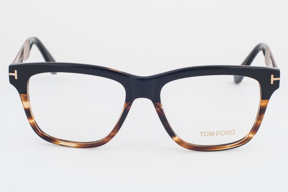 Tom Ford 5372 005 Black Tortoise Eyeglasses TF5372 005 54mm