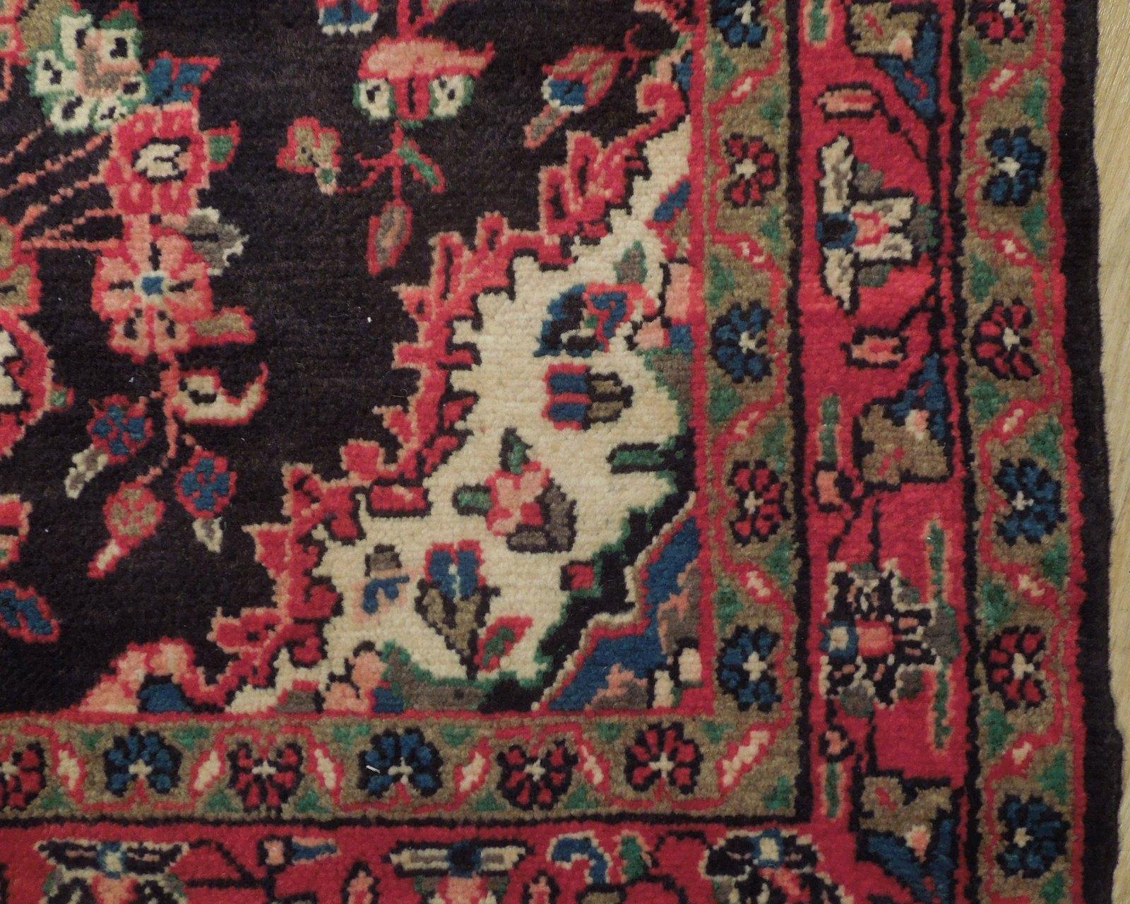 Tribal Wide Gallery Runner Persian Genuine Handmade 4x10 Black Sarouk Wool Rug image 3