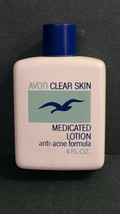 Vintage NOS Avon Clear Skin Medicated Lotion, Anti-Acne Formula, 4 Ounce - $8.15