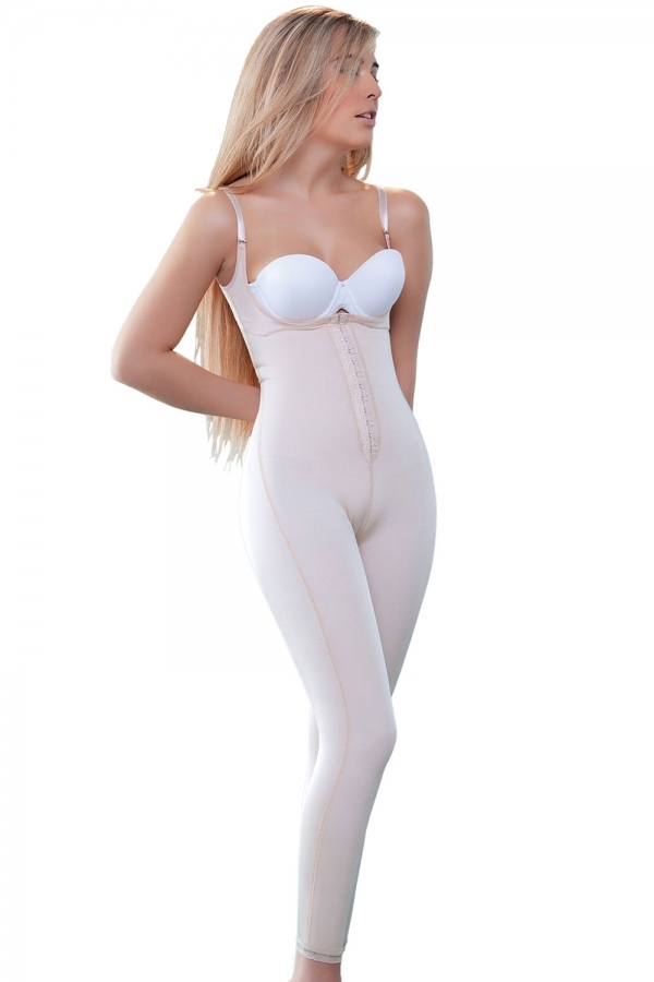 01a4e6ef5 Beige Post Surgery Long Leg Compression Garment Stage 1 Bodysuit to ...