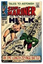 Tales To Astonish #100 Comic book-HULK-SUB-MARINER-CLASSIC COVER-MARVEL Fn+ - $78.18