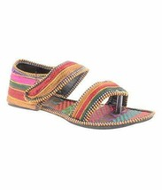Indian Clogs Handmade Flat Mojari Ethnic Juti Woman Shoes  - $19.99