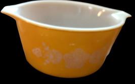 Vintage Pyrex 1 Qt  Casserole Bowl Butterfly Gold - $19.79