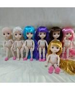 15cm Girls Pink Violet blue White hair Princess Dolls 14 joint doll EYE 3D - $9.80+