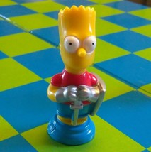 "Bart Simpson Collector Figure Chess Piece Nik Nak Replacement 2 1/4 "" Red (A) - $3.00"