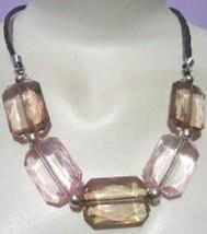 Quartz Acrylic Necklace (WHOLESALE LOT/PER DOZEN) - $28.00