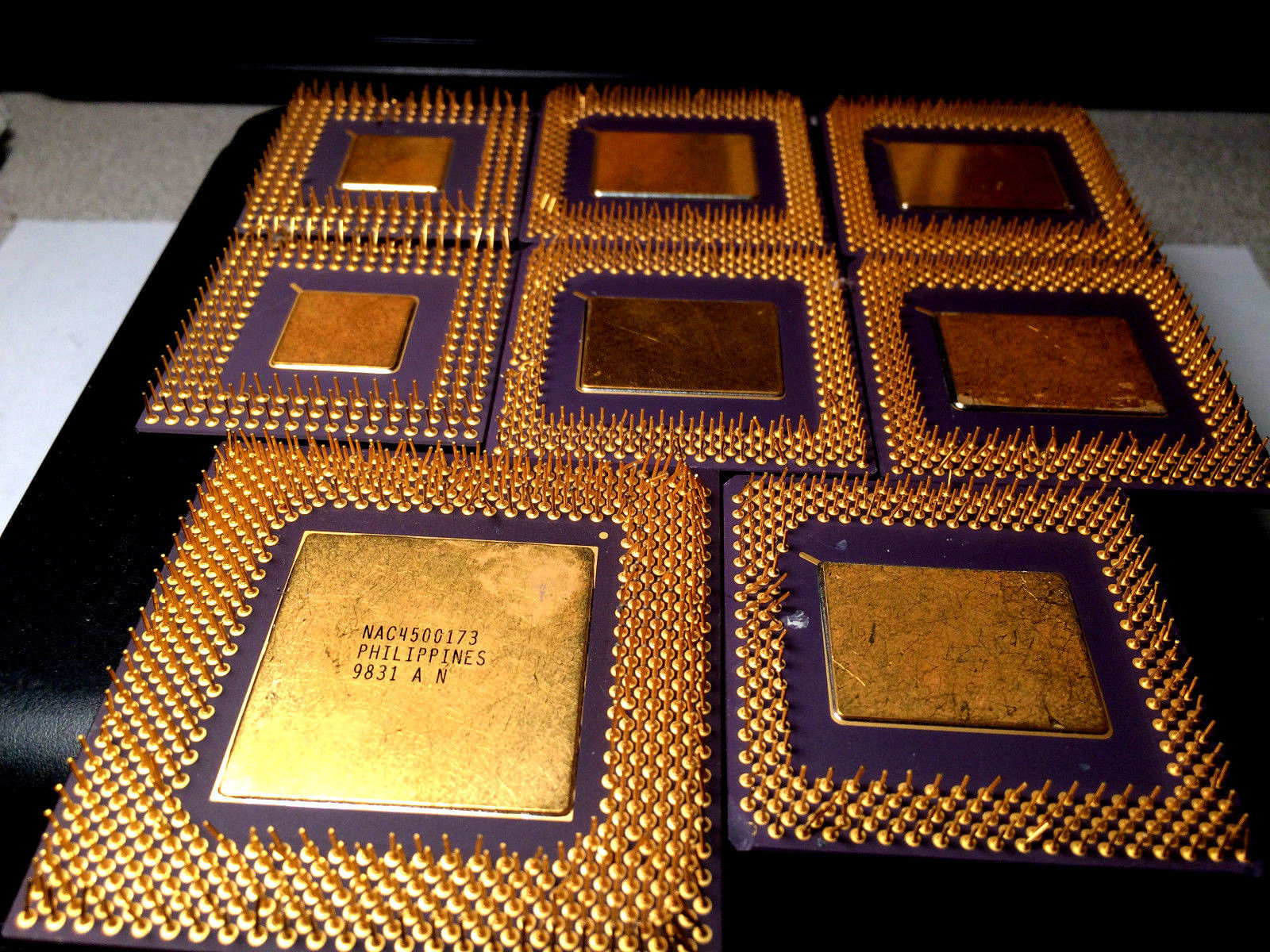 Gold Scrap CPU Ceramic for Gold Recovery 9.1 oz Free Ship