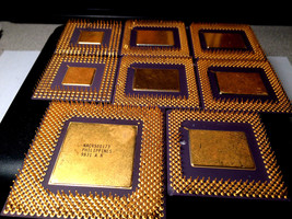 Gold Scrap CPU Ceramic for Gold Recovery 9.1 oz Free Ship - $137.75