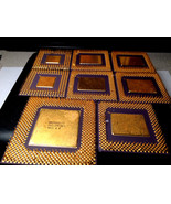 Gold Scrap CPU Ceramic for Gold Recovery 9.1 oz Free Ship - $147.25