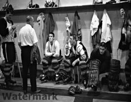 60's Toronto Maple Leafs Dressing Room 5 HOF Sawchuk Horton 8 X 10 Photo - $9.99