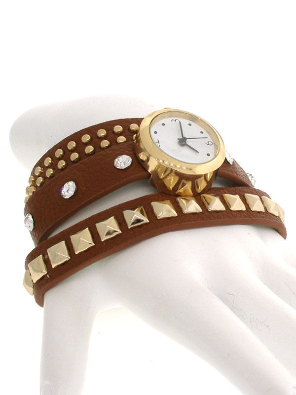 Watch - Brown Leather Wrap Wristwatch - 254030111 image 1