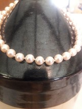 Vintage Necklace Faux Pearl Aged Costume Jewelry - $7.92