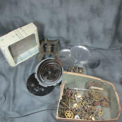 Primary image for Lot of Vintage Clock Parts - Gears, Works, Case, More for Repair or Steam Punk