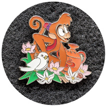 Aladdin Disney Lapel Pin: Abu with Flowers - $14.90
