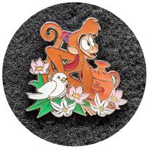 Aladdin Disney Lapel Pin: Abu with Flowers - $14.90