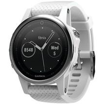 Garmin Fenix 5s 42mm Multisport Gps Watch (white With Carrara White Band) GRM016 - $787.40