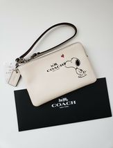 NWT COACH PEANUTS SNOOPY KISS CALF LEATHER WRISTLET WALLET LIMITED EDITION - $195.00