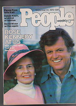 People Magazine Rose Ted Kennedy Calvin Klein September 22 1975 Free S/H - $19.95