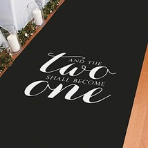 And The Two Shall Become One Black Aisle Runner 100' X 3' Sealed - $33.88