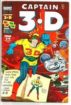 CAPTAIN 3.D #1 HARVEY COMICS --Vol.1 #1  JACK KIRBY Glasses still attach... - $102.47