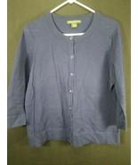 Eddie Bauer Dark Blue Women's 3/4 Sleeve Button Front Sweater Size Large  - $12.19
