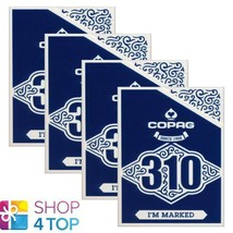 4 DECKS COPAG 310 I'M MARKED POKER PLAYING CARDS PAPER STANDARD INDEX BL... - $36.37