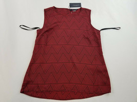 new Tommy Hilfiger women blouse top shirt H8NT736J red black sz S MSRP - $27.59