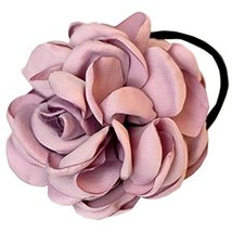 Elegant Flowers Ponytail Holders Hair Rope Hair Accessories(Light Purple)