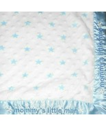 Carter's Just One You Mommys Little Man Baby Blanket Blue Stars White Bu... - $32.55