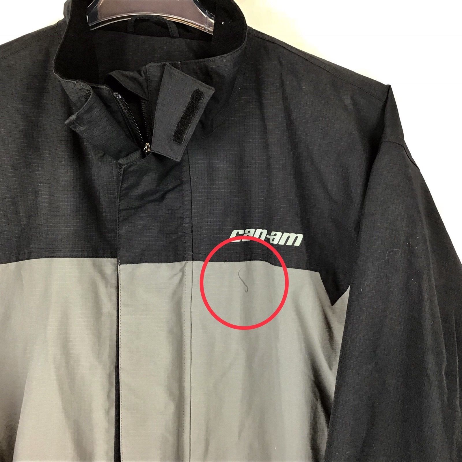 CanAm BRP XXL Mens Rain Riding Jacket 2XL FLAWED Nylon Black Spyder NWT A9-21 image 2