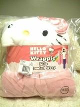 Hello Kitty Wrappie Kids Hooded Wrap Pink/White - $22.76