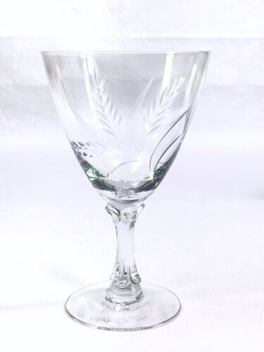 Primary image for Fostoria WHEAT Water Goblet Glass Etched Wheat Spray Vintage EUC