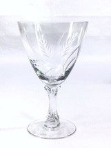 Fostoria WHEAT Water Goblet Glass Etched Wheat Spray Vintage EUC - $11.75