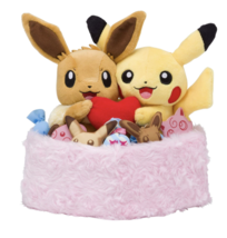 Pokemon Center Original Plush Doll Winter Pikachu Eevee Japan Game F/S N... - $78.00