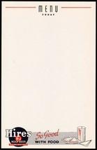 Vintage menu HIRES ROOT BEER R J logo sandwich pictured new old stock n-... - $7.99