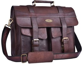 "Handmade_World  15"" Large Leather MESSENGER Bag For Men Shoulder Bag - $54.45+"