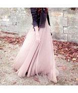 Multi Layers Long Womens Tulle Skirt Princess C... - $26.99