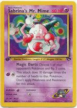 Sabrina's Mr. Mime 59/132 Uncommon 1st Edition Gym Challenge Pokemon Card