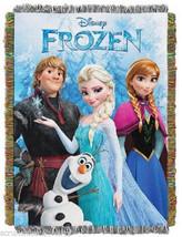 Disney Frozen Elsa Anna Tapestry Throw Blanket Olaf Kristoff New - $74.95
