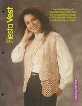 Fiesta Vest Womens Sz P-XL HoWB Knitting Pattern Leaflet NEW - $2.67