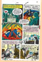 Original 1975 Phantom Stranger 38 page 9 DC comic book color guide art:1... - $99.50