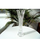 "High Quality Crystal Bud Vase 8 1/2"" Tall Unbranded - $24.74"