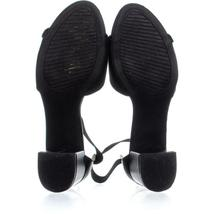 White Mountain Evie Criss Crossed Ankle Strap Sandals 736, Black, 10 US image 6