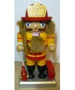 "Fireman FD 1 Nut Cracker Decorative Wooden Display 6"" - $18.81"